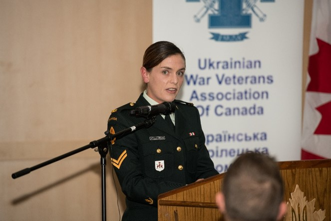 Presenter from 2CER, providing update on Op UNIFIER Roto 4 at UWVA – CAF Appreciation Event held in Toronto on 1 Jun 2018.